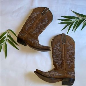 Women's cowboy leather boot 👢